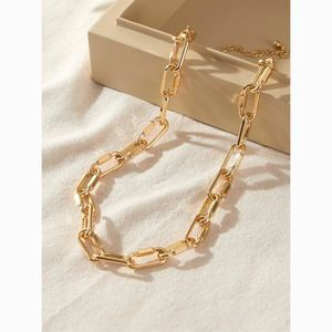 Dainty Gold Simple Chain Choker Statement Necklace
